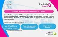 Acuerdo De Financiación Provincia Leasing Y Cafas