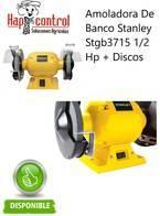 Amoladora De Banco Stanley Stgb3715 1/2 Hp Y Discos