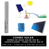 Bomba De Agua Solar Handuro 300 Watts 4000 Litros/hora