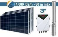 "Bomba De Agua Solar Sumergible SEIF Energy 3"" Centrifuga 4000L 80M Paneles 4x270W"