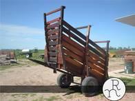 Cargador De Hacienda Móvil En Madera Dura