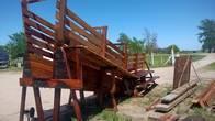Cargador Fijo Para Hacienda Bovina En Madera De Urunday