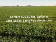 Compro 60 / 80 Has Agricolas Sur De Santa Fe Zona Godoy