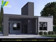 Casa Sustentable. Construcción Modelo De 2 Dormitorios