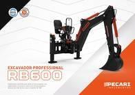 Excavador Professional Pecari Rb 600 Para Minicargadora