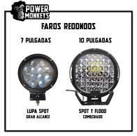 "Faro Redondo Largo Alcance 7"" Y 10"""