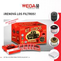 Filtros Kit Wega Toyota Hilux