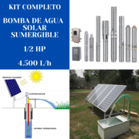 Kit Bomba De Agua Solar Handuro 1/2 HP 4.500 Litros/hora