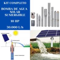 Kit Bomba De Agua Solar Handuro 10 HP 30.000 Litros/hora