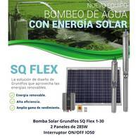 Kit Bombeo Solar Grundfos 2 Paneles SQ Flex