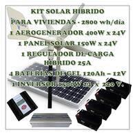 Sistema Híbrido Eólico / Solar 2800 Wh/día