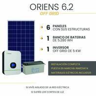 Kit Solar Off Grid - Oriens 6.2 - Instalación Incluida