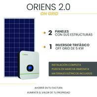 Kit Solar On Grid - Oriens 2.0 - Instalación Incluida