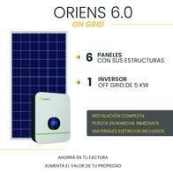 Kit Solar On Grid - Oriens 6.0 Tri - Con Instalación