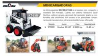 Minicargadora Wecan XT650 - Año: 2012