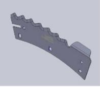 Repuesto Para Cabezal Blade Cuchilla Derecha Con Aleta