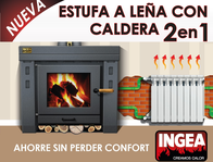 Salamandra C/caldera. Calefacción 2En1.radiad/piso Rad.