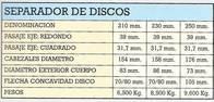 Separador De Discos Natalio Baudo E Hijos