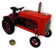 Tractor Antiguo Decorativo Metal 16Cm Replica A Escala