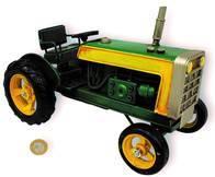 Tractor Antiguo Decorativo Metal 26Cm Replica Artesanal