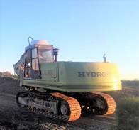 Vdo Excavadora Hidromac H145 1994 Trabajando Perfecta.