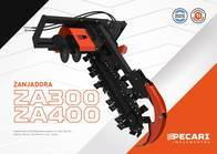 Zanjadora Pecari Za 400 Para Minicargadora
