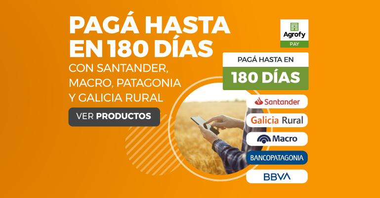 PAGÁ HASTA EN 180 DÍAS